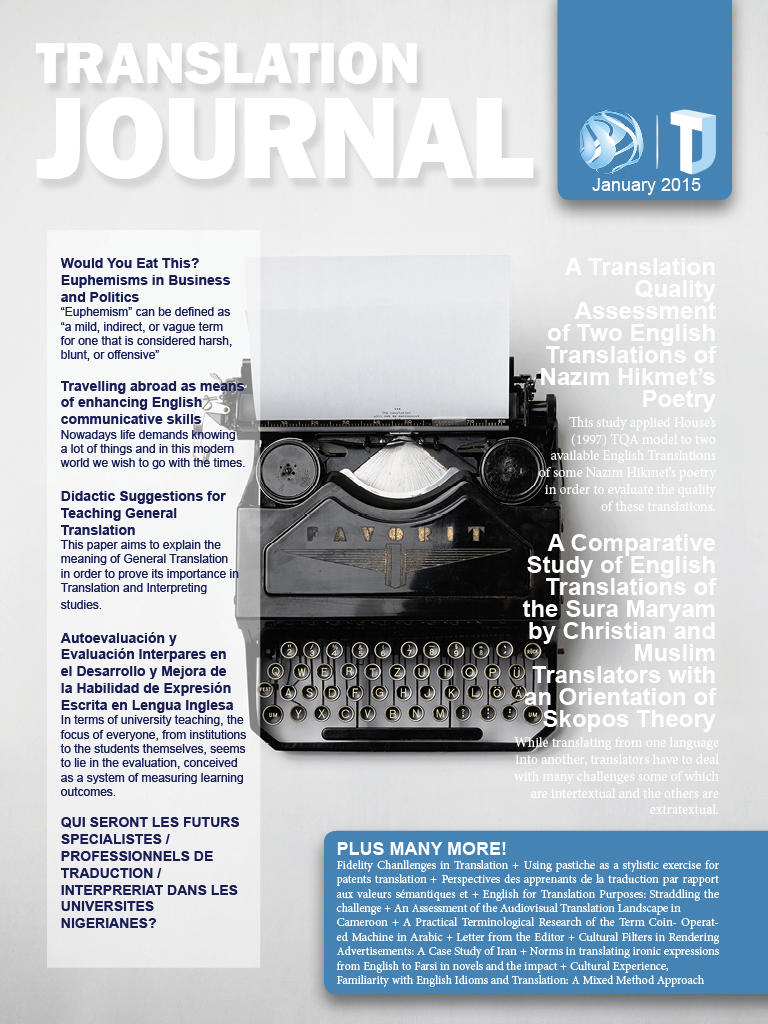 Translation Journal - January 2015 Journal